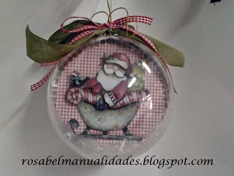 Decoracion casa navidad aprender manualidades es - Manualidades bolas de navidad ...