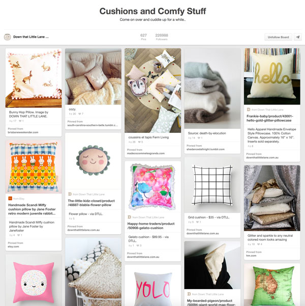 Cushions and Comfy Stuff Pinterest Board