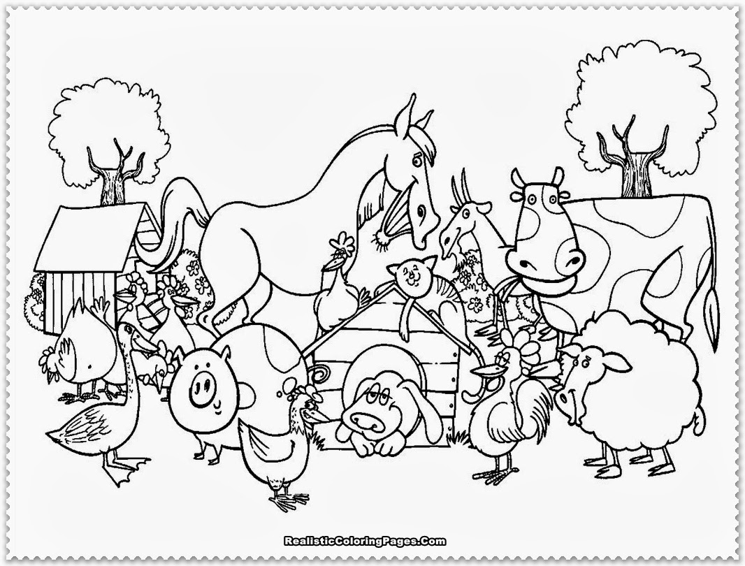 Farm Coloring Page Farm animal coloring pages - TheBooks