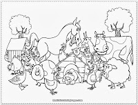 farm animal coloring pages for kids printable
