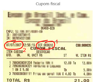 Como encontrar o Número do Cupom Fiscal?