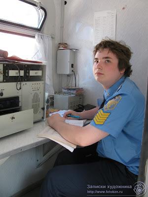 Казанская детская железная дорога, купе начальника поезда