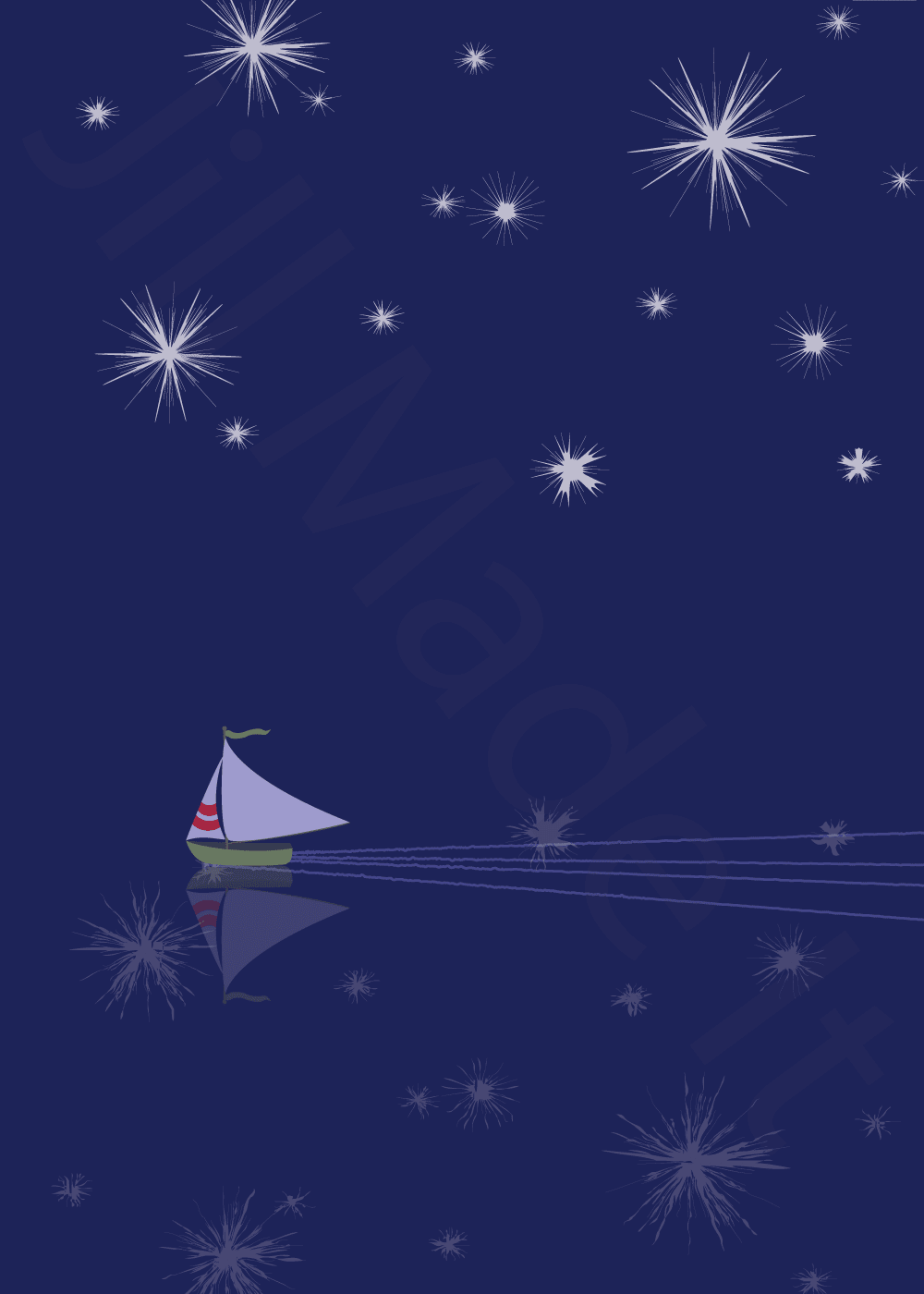 Starry Night Sailboat