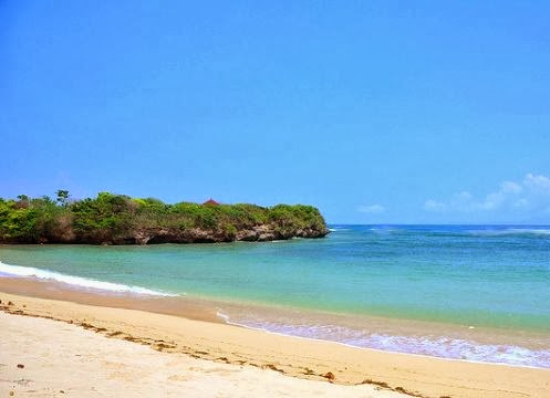 Island in Nusa Dua is very famous