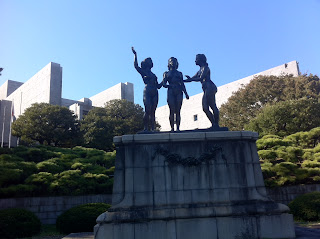 The Goddesses of Peace in front of Japan's Supreme Court, Tokyo.