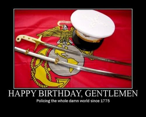 Happy Birthday Usmc Quotes ~ With love and chevrons happy th birthday to the marine corps