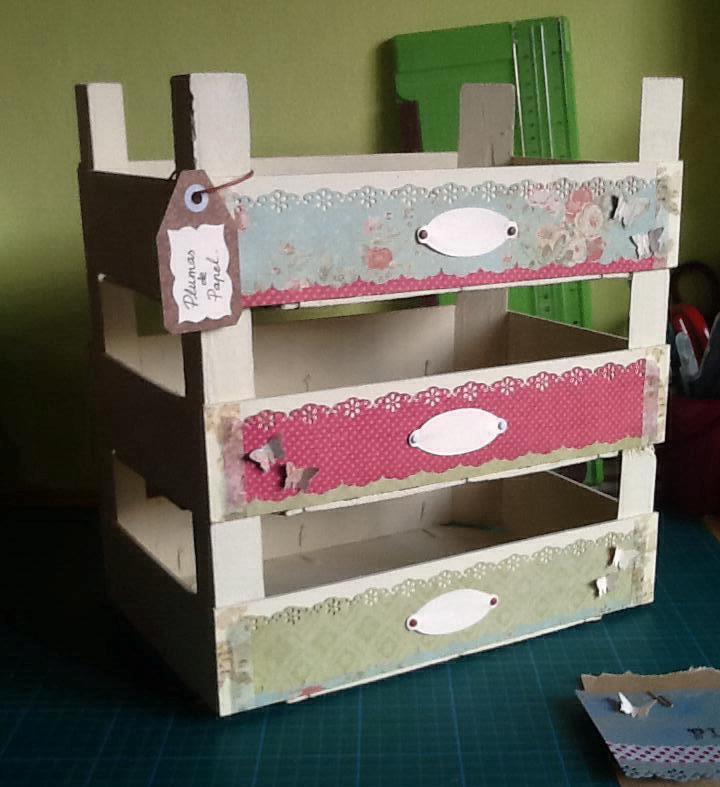 Plumas de papel cajas de frutas customizadas - Cajas de fruta decoradas ...