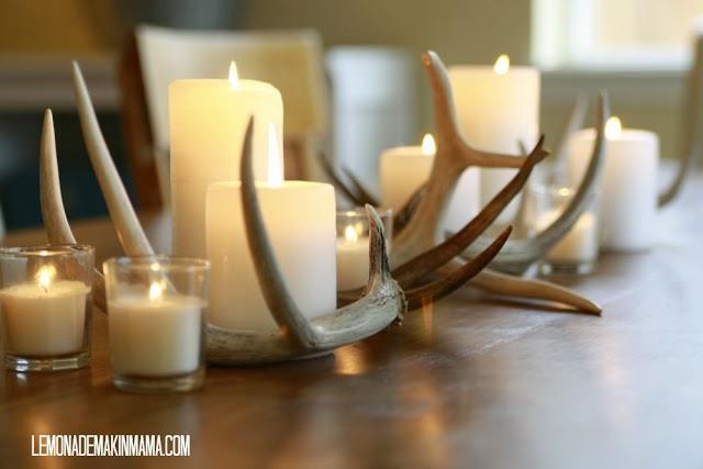 antlers candles vignette