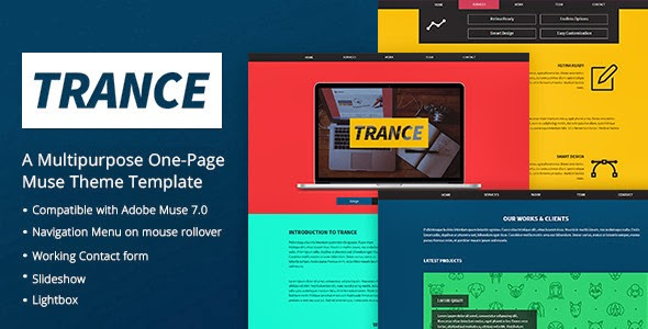 Premium One Page Muse Theme
