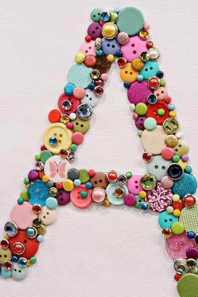 decoracion con botones