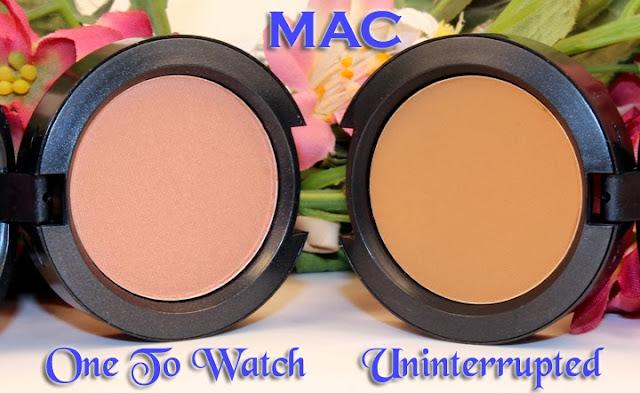 Mac One To Watch Eyeshadow & Mac Uninterrupted Eyeshadow