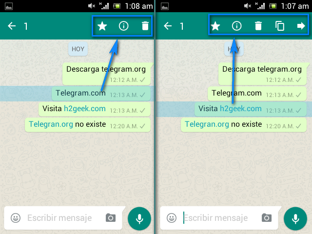 Telegram vs Whatsapp - h2geek