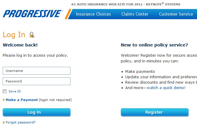 progressive-insurance-login