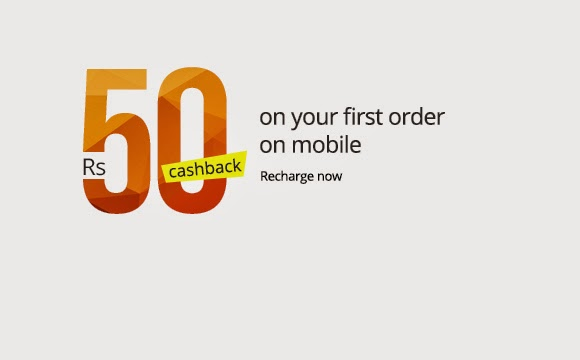 Rs 50 Cashback on Rs 50 Mobile & DTH Recharge (New App Users)