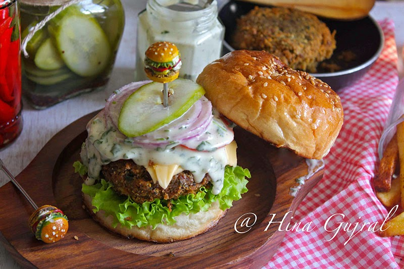 Roasted Mushroom and Vegetable Burger Recipe