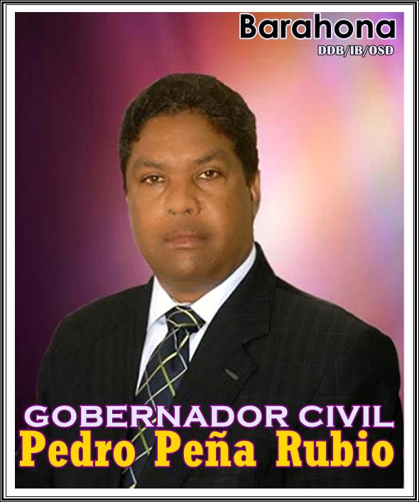PEDRO PEÑA RUBIO, COMPROMETIDO CON EL DESARROLLO DE BARAHONA