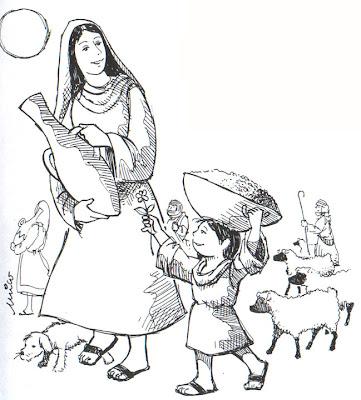 Virgen María y el niño Jesús colorear