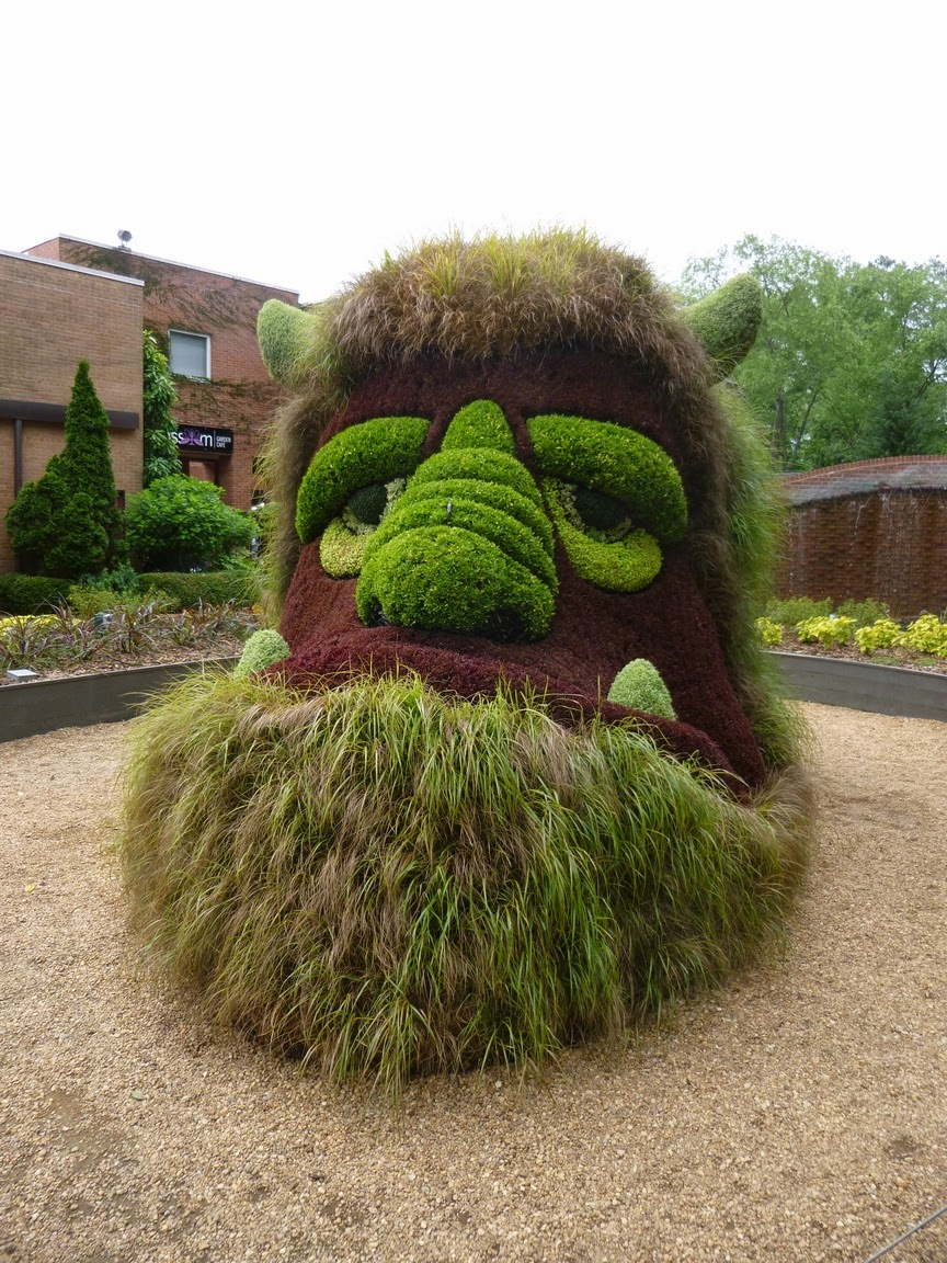 Giant ogre head at Atlanta Botanical Garden