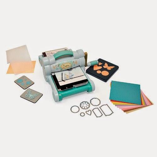 Машинка для вырубки и тиснения Big Shot Starter Kit (Powder Blue and Teal), набор для начинающих, арт.658300, Sizzix
