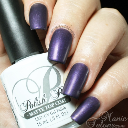 NSI Polish Pro Matte Top Coat over Love Potion