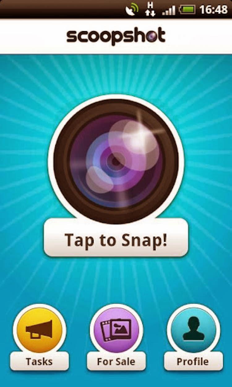 صورة من داخل تطبيق ScoopShot
