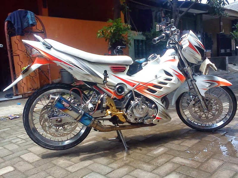 Judul: Gambar Modifikasi Motor Suzuki Satria FU Terbaru 2014 title=