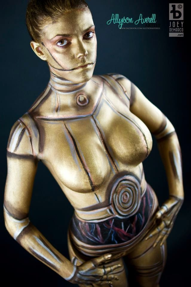 Body paint féminin C3PO