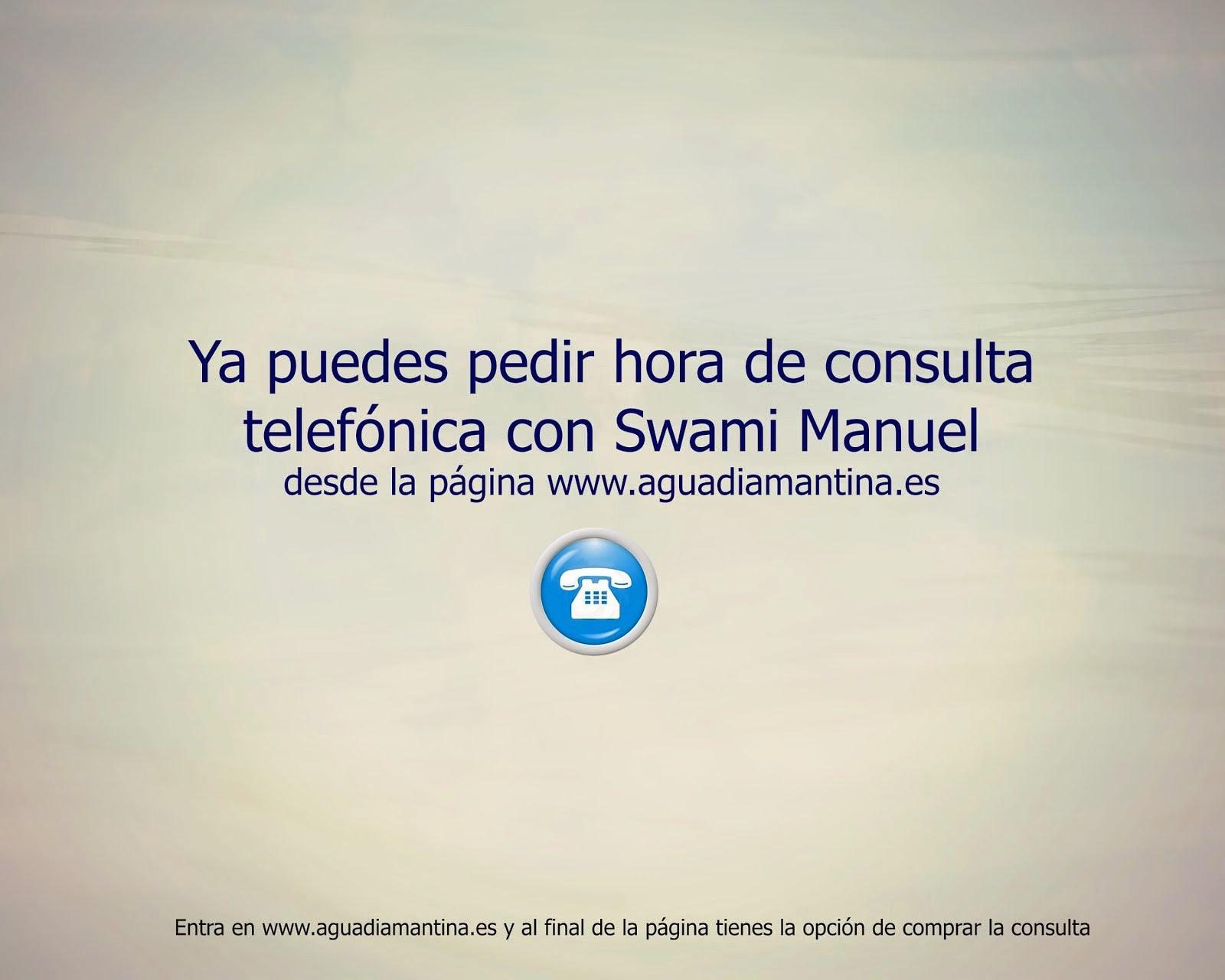 Consulta telefónica con Swami Manuel