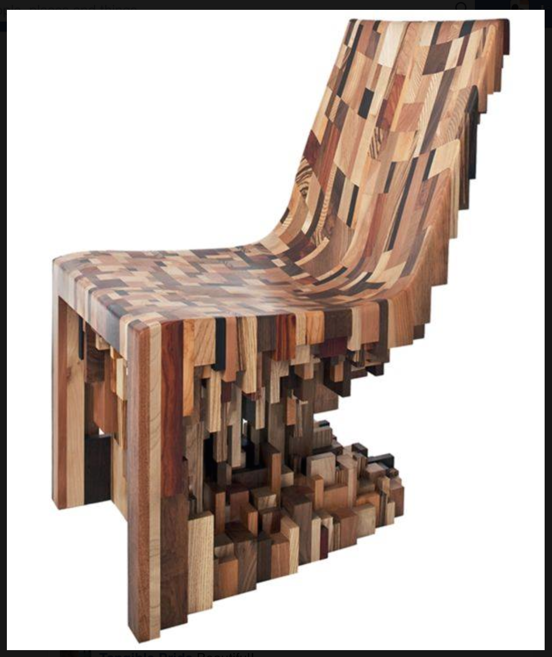 Taking scraps to a whole new level, they produce sculptural pieces like the  chair below.