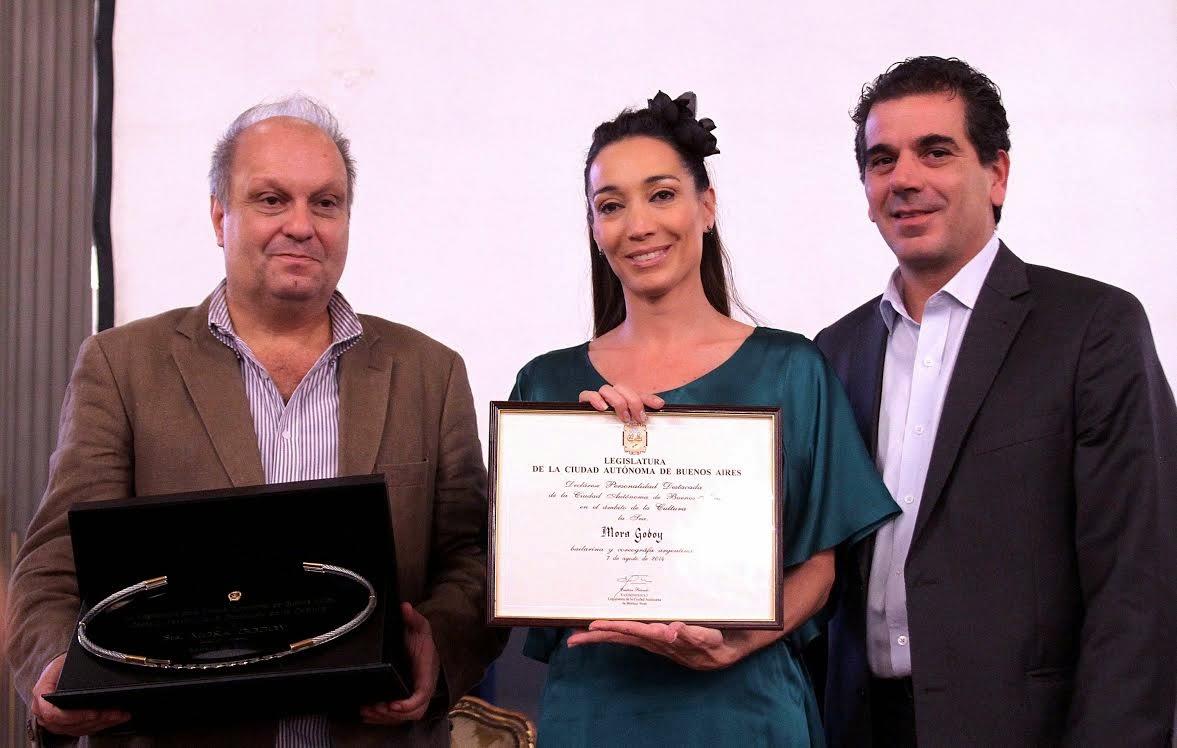 Hernán Lombardi, Mora Godoy y Cristian Ritondo