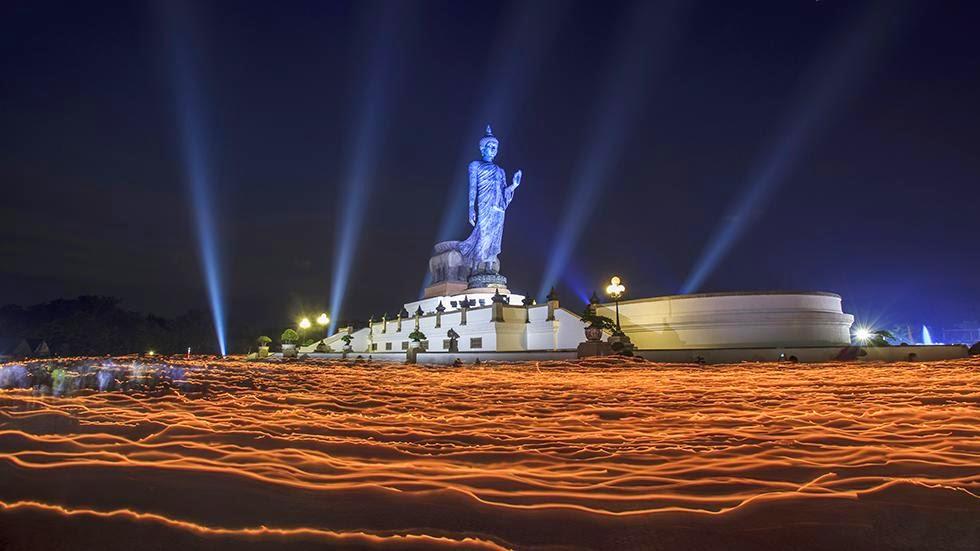Buddha, Makha Bucha Day, Buddhist Park, Nakhon Pathom, Thailand, temple