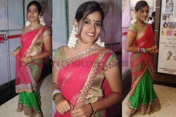 Sreya Surendran Half Saree