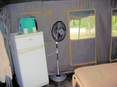 Namiot w Skukuza w RPA