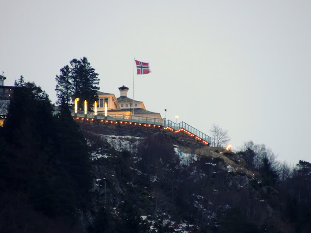 Advent lights, Floen, Bergen 23.12.12