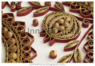 Quilled pomegranate