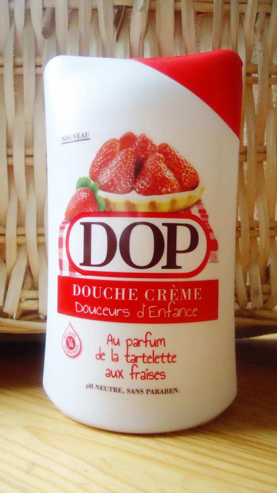 dop douche crème au parfum de tartelette aux fraises