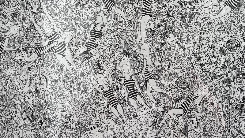 L 39 tang de kaeru art contemporain mes chouchous du - Coloriage minutieux ...