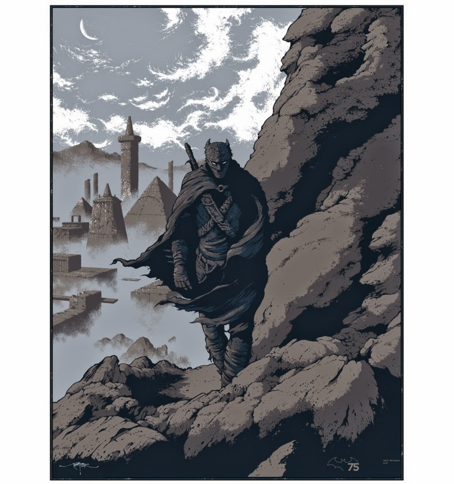 "Batman 75th Anniversary Screen Print Series - ""Batman Iron Age"" by Arik Roper"