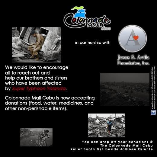 CebuOnlineTV-Yolanda-Donations-Colonade-Mall