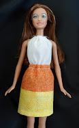 diy barbie blog: candy corn dress tutorial