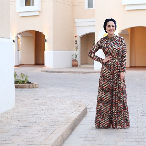 Turban modest Blogger Ascia AKF The Hybrids in Tory Burch Leane Gown long sleeve maxi dress |  Follow Mode-sty for stylish modest clothing #nolayering tznius orthodox jewish muslim hijab mormon lds pentecostal islamic evangelical christian
