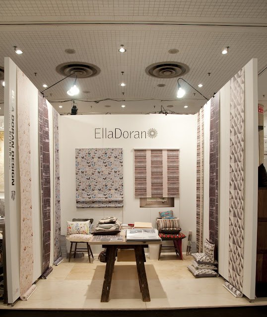 Nice picture of the Ella Doran stand for the trading show ICFF in New York