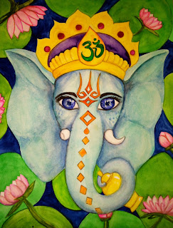 Ganesh Watercolor