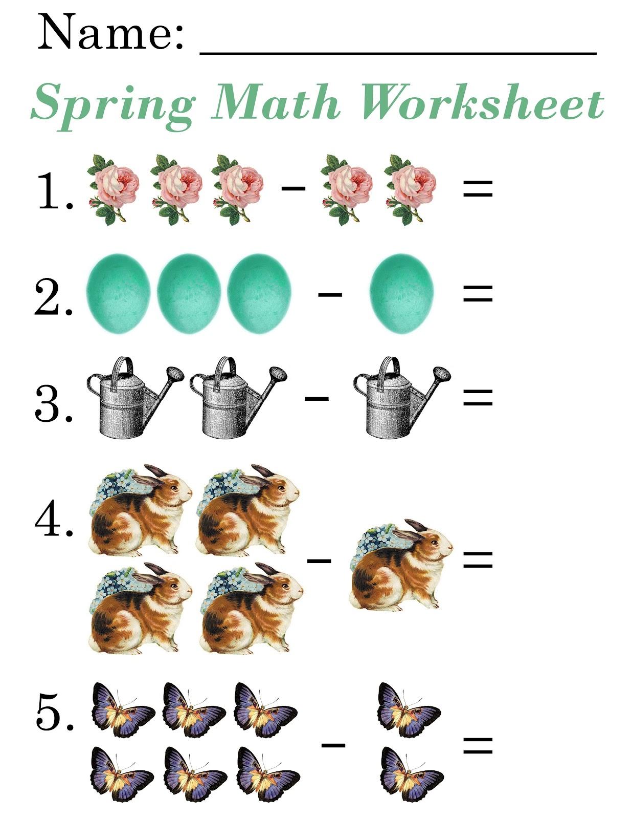 lilac amp lavender kids spring math worksheets