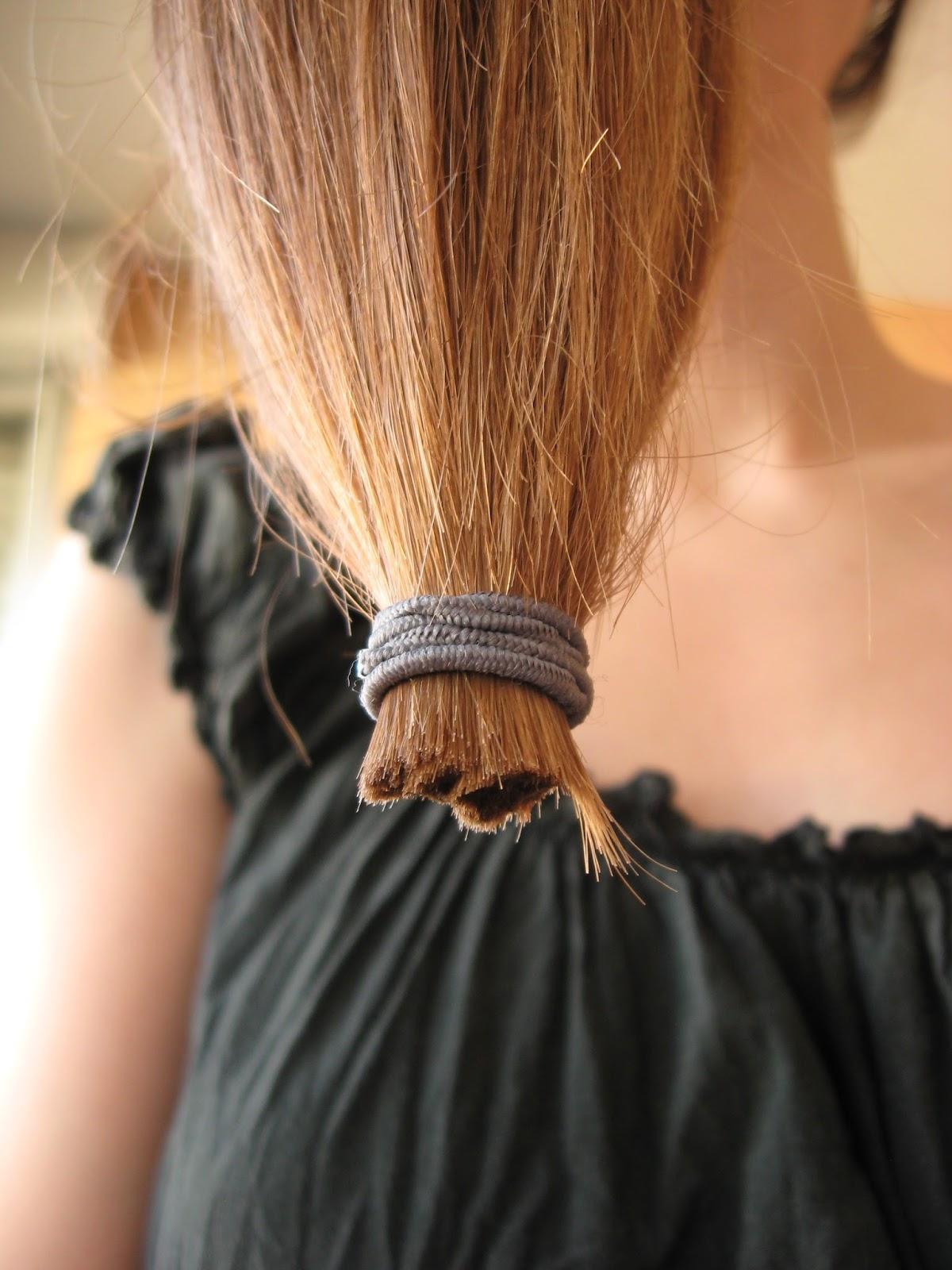 Se couper les cheveux soi meme en u
