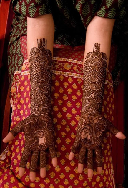 Full Bridal Hand mehndi Designs