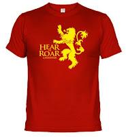 camiseta casa lannister- Juego de Tronos en los siete reinos