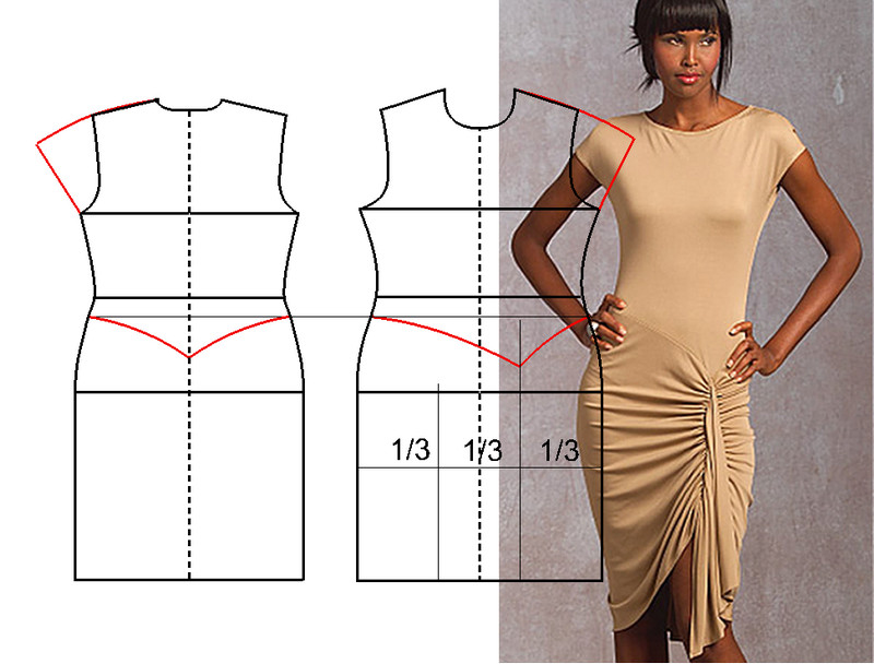 Сшить платье из трикотажа своими руками быстро 53
