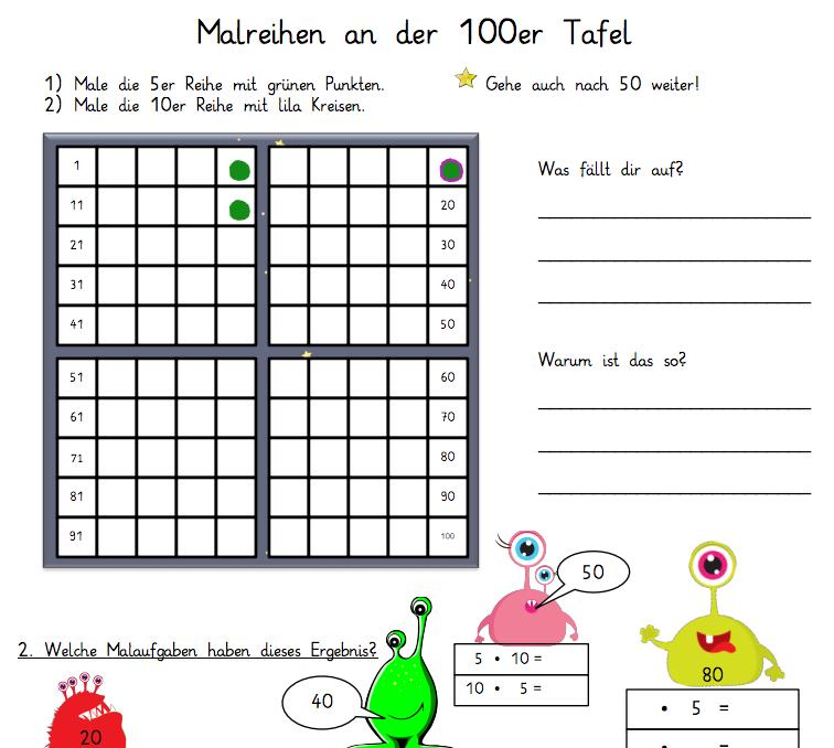 Drachenstübchen: Arbeitsblatt Multiplikation mit 5 und 10 im ...