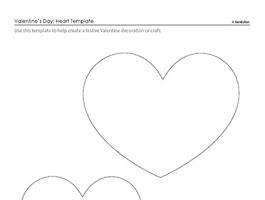 Printable Heart Shaped Box Template